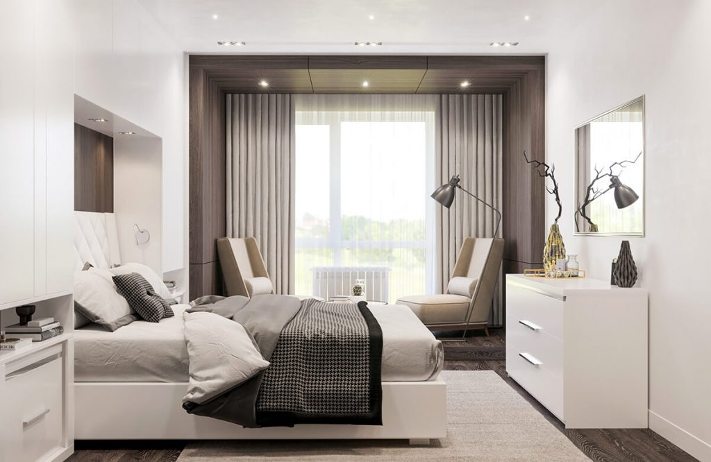 Спальная комната квартира в жк Арман Кала
