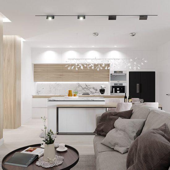 Гостиная квартира ЖК Триуфм Астана