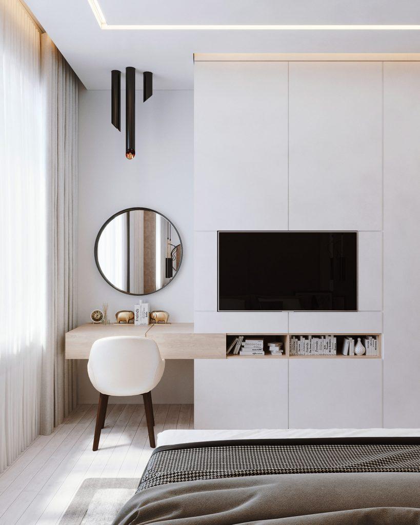 Дизайн квартиры в ЖК Парк авеню - Спальная