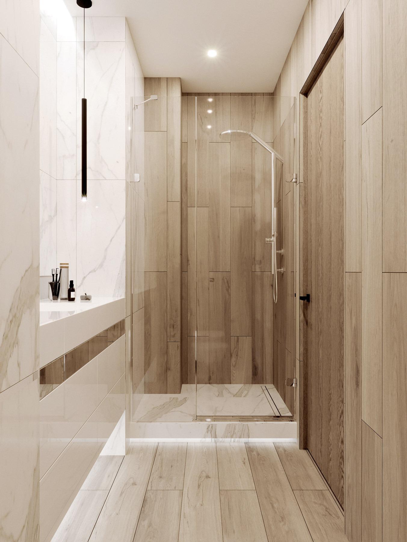 Дизайн квартиры в ЖК Парк авеню Астана - гостевой С/У