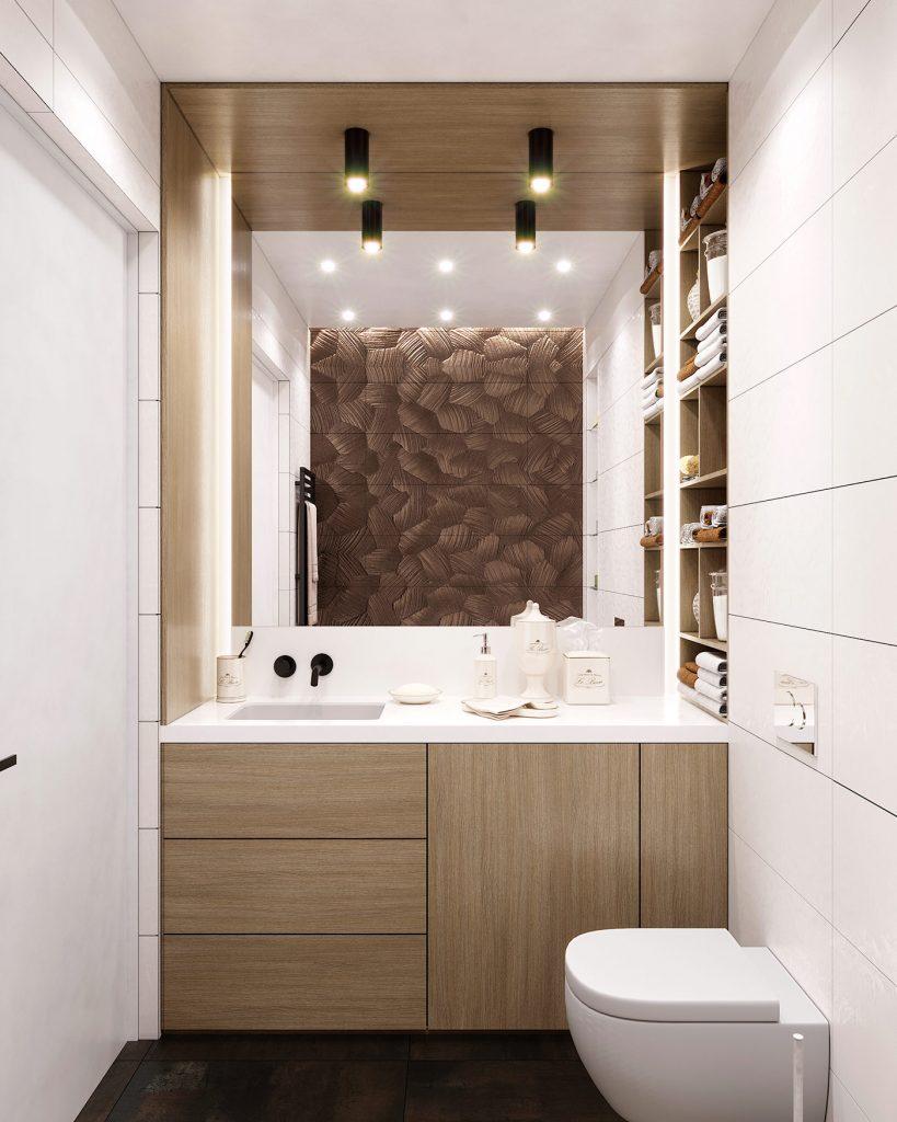 Дизайн квартиры в ЖК Парк авеню - Мастер ванная
