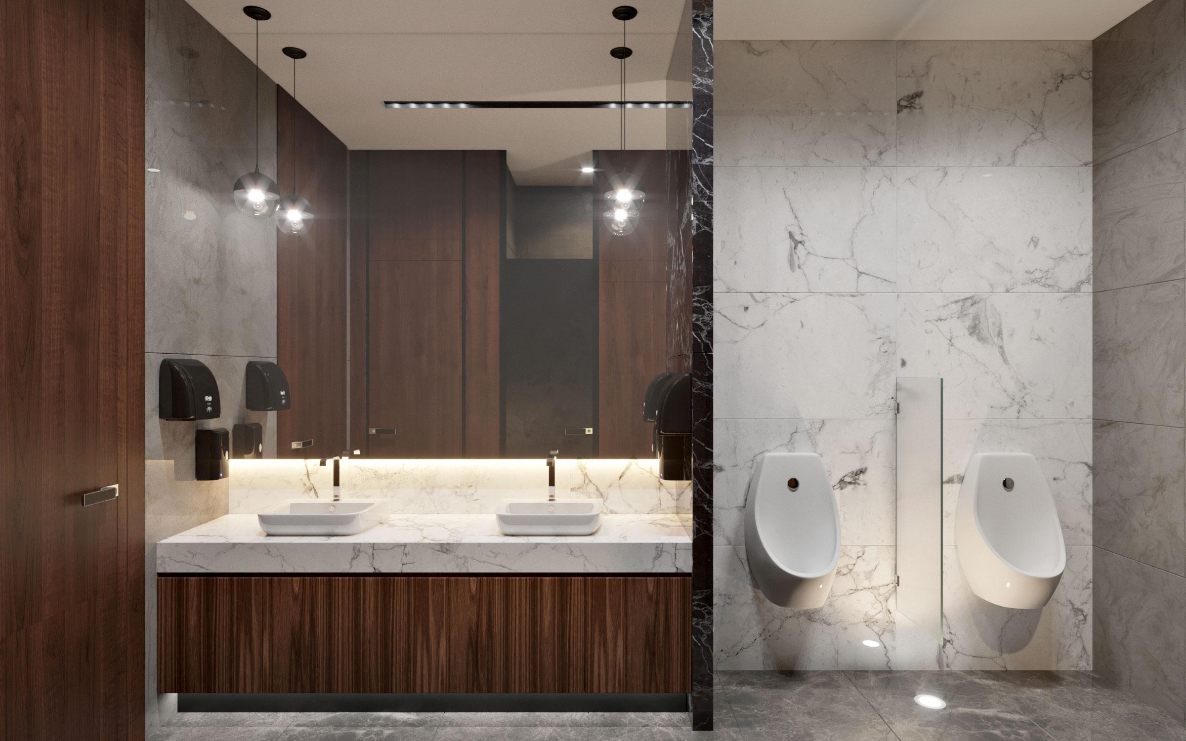 Бизнес центр Downtown Астана - Туалетная комната Мужская
