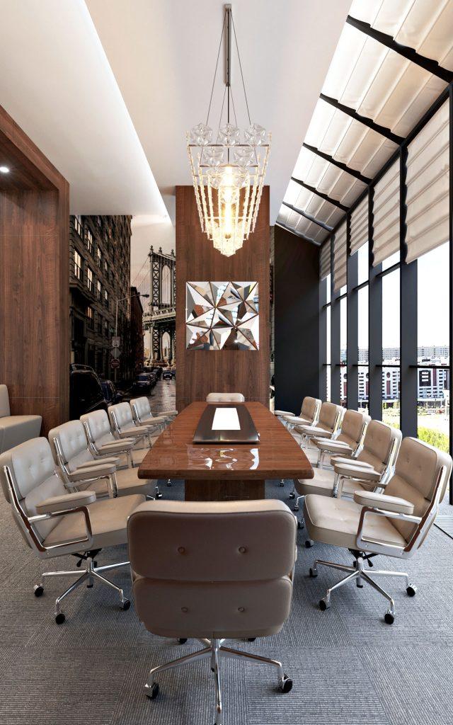 Офис компании в бизнес центре Downtown - конференц зал