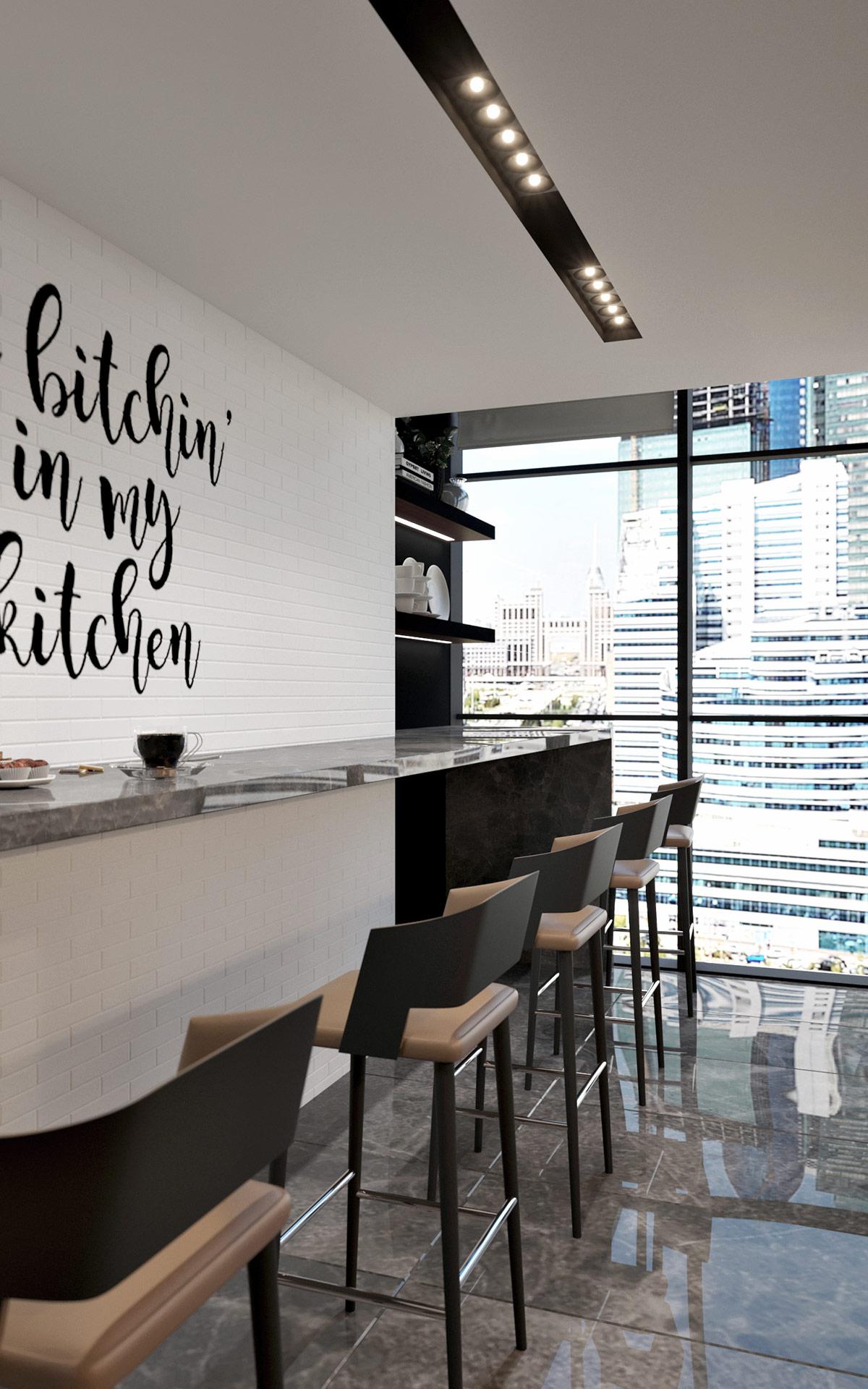Офис компании в бизнес центре Downtown - кухня персонала