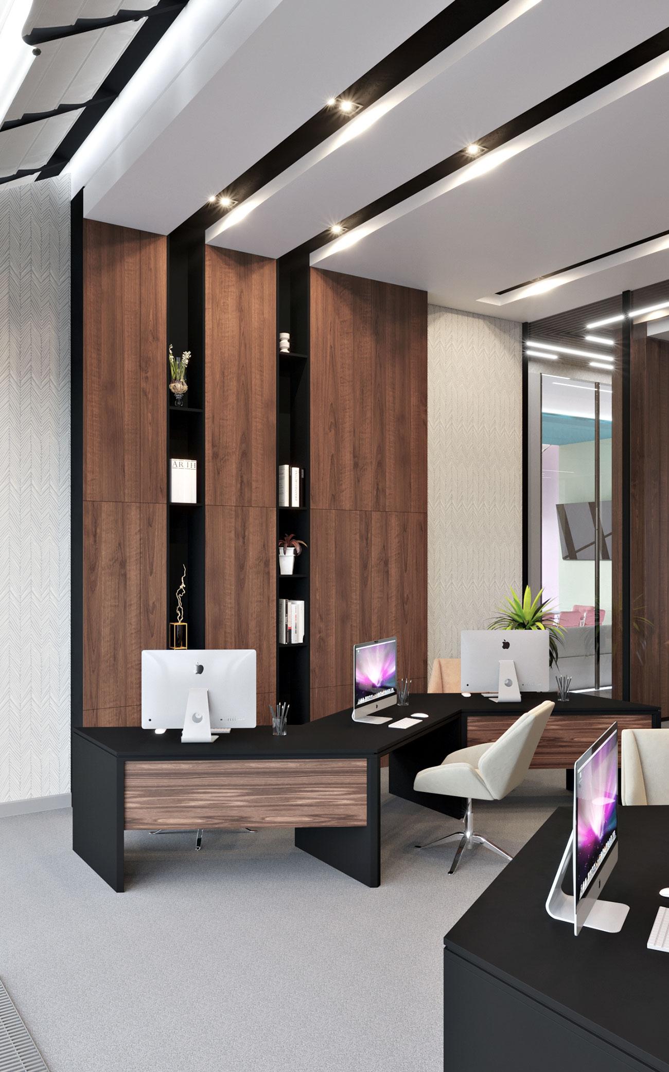 Офис компании в бизнес центре Downtown - кабинеты