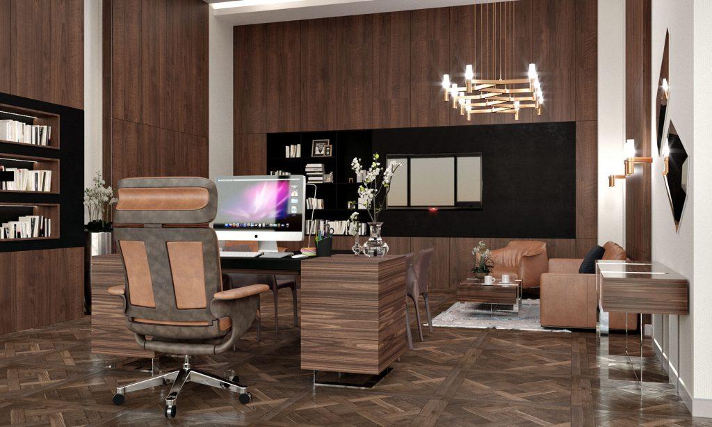 Офис компании в бизнес центре Downtown - кабинет заместителя