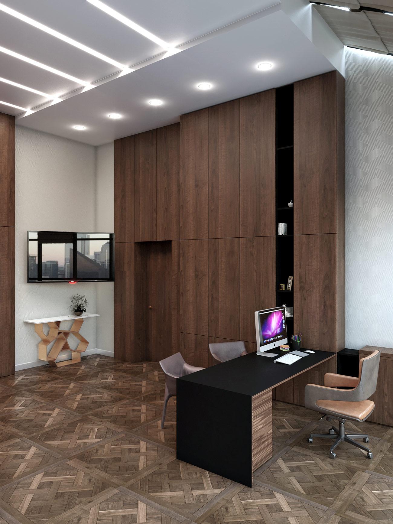 Офис компании в бизнес центре Downtown - Приемная