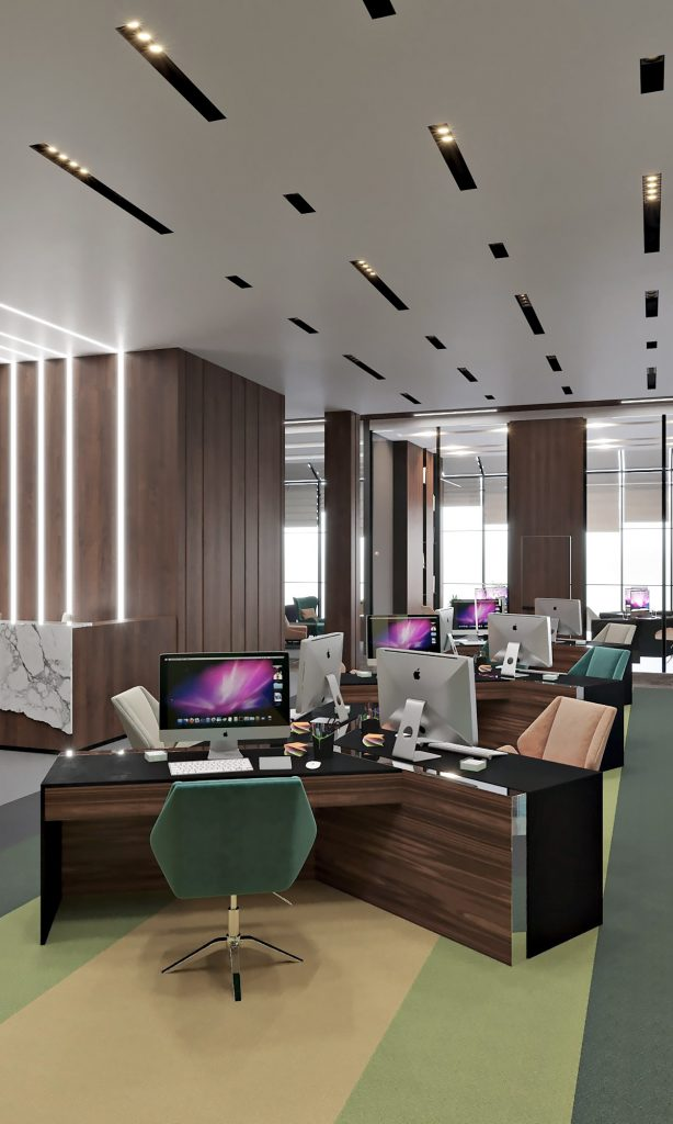 Офис компании в бизнес центре Downtown