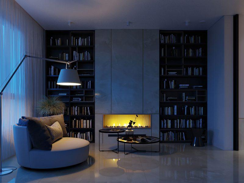 Дизайн квартиры в ЖК Rey Residence - гостиная