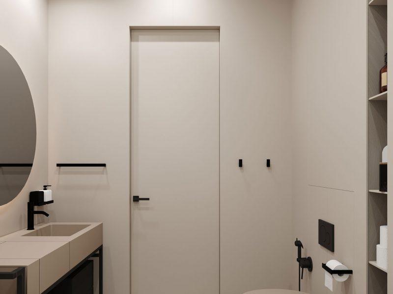 Дизайн квартиры в ЖК Rey Residence - Ванная