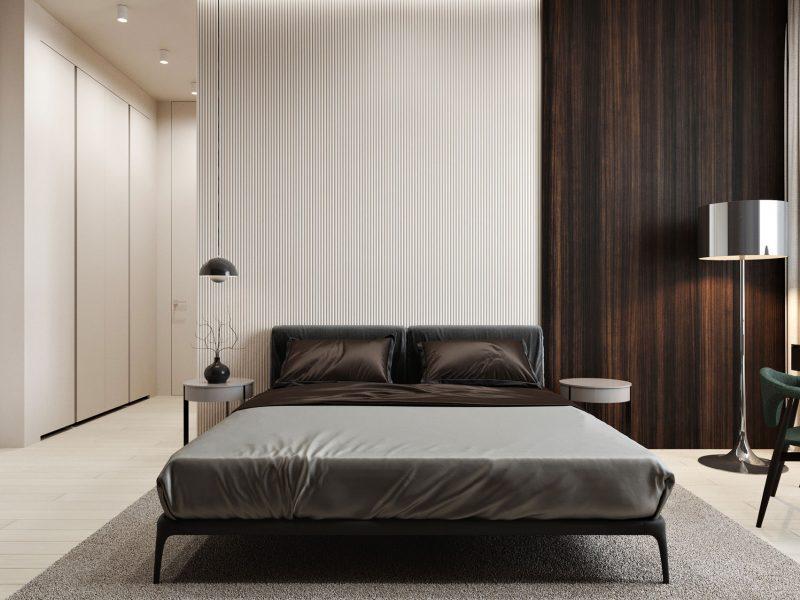 Дизайн квартиры в ЖК Rey Residence - Спальная