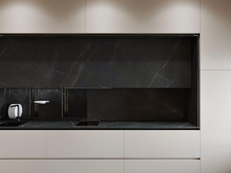 Дизайн квартиры в ЖК Rey Residence - кухня