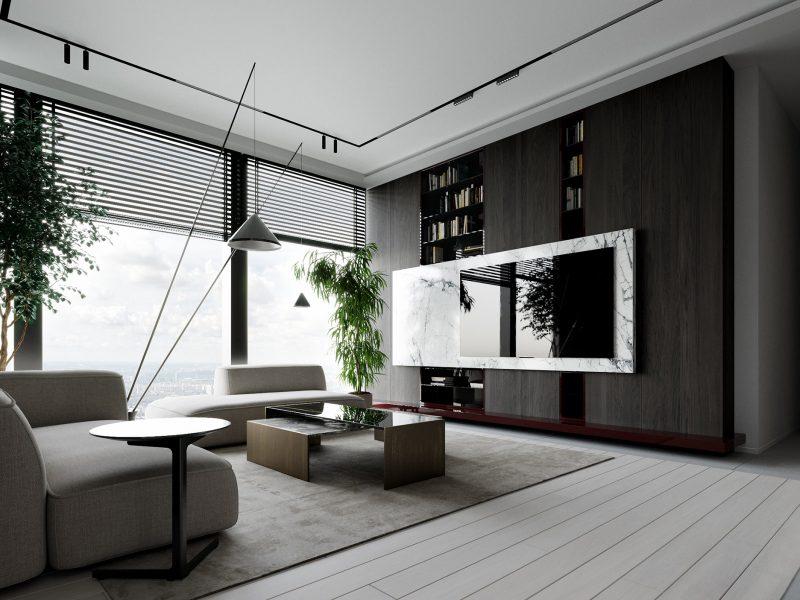 Апартаменты Москва сити - гостиная